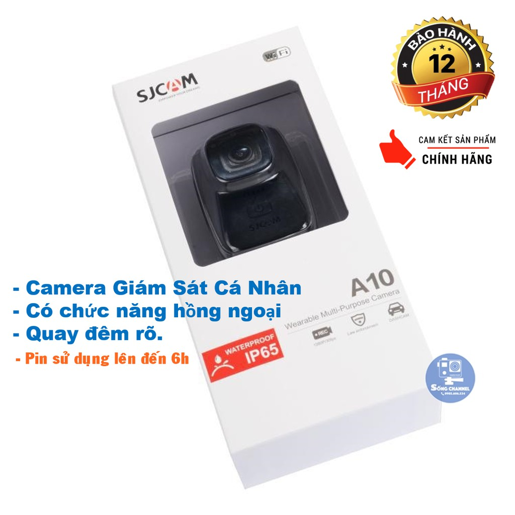 [Mã ELMS03 giảm 7% đơn 500K] [CHÍNH HÃNG] Camera SJCam A10- Camera Giám Sát Cá Nhân