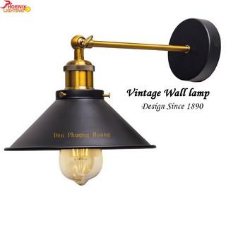 Đèn tường: Mẫu đèn vách Vintage chao hình nón cổ điển