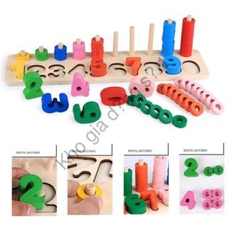 Bộ học toán theo phương pháp Montessori – Gỗ an toàn sỉ lẻ số 1