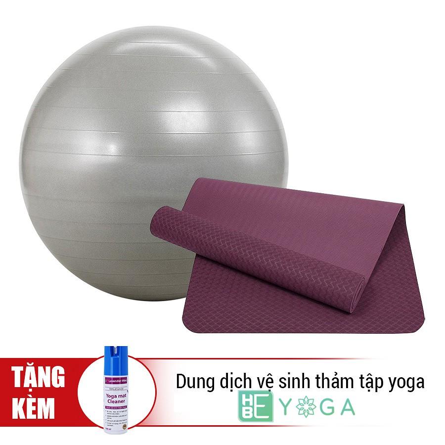 Thảm yoga TPE ZERA MAT 8mm 1 lớp ( Tặng kèm bóng 65cm trơn + dung dịch vệ sinh thảm)