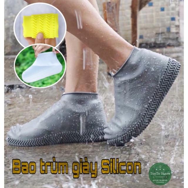 Bọc giày Silicon đàn hồi đi mưa siêu tiện lợi