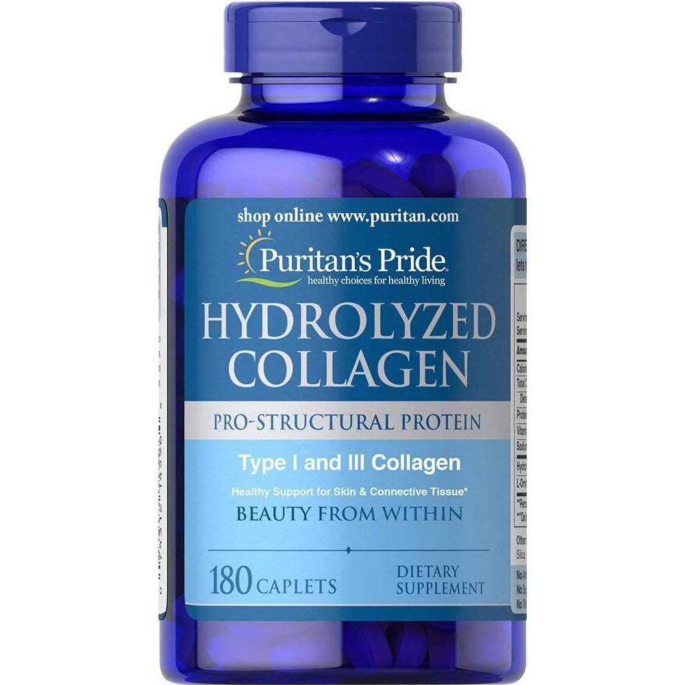 Collagen thủy phân giúp trắng da căng mịn, mờ nám Hydrolyzed Collagen Puritan's Pride 180 viên