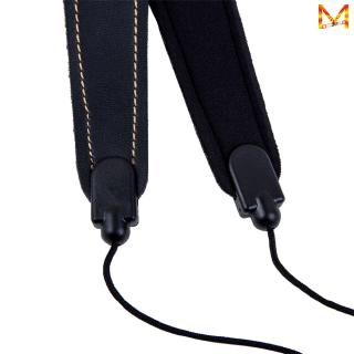 Adjustable Saxophone Sax Leather Nylon Padded Neck Strap with Hook Clasp