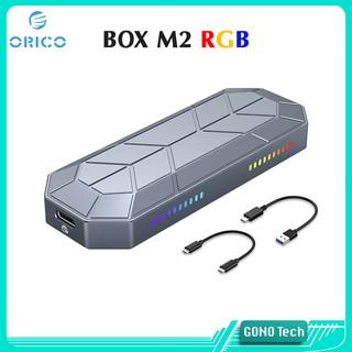 Box ổ cứng di động SSD M2 NVMe ORICO M2VG01-C3 LED RGB Chuyển M.2 PCIe to USB 3.1 Type-C 10Gbps thumbnail