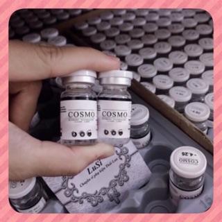 1cặp lens COSMO Hàn Quốc có sẵn 1-15 độ lens cận lens trong suốt không màu TẶNG KHAY