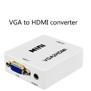 Đầu chuyển đổi âm thanh 1080p vga2hdmi mini vga sang hdmi cho laptop/máy tính bàn
