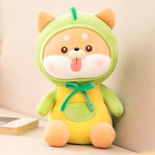 Gấu bông chó Shiba lêu xì cosplay quả bơ xanh kích thước 40-50-80cm