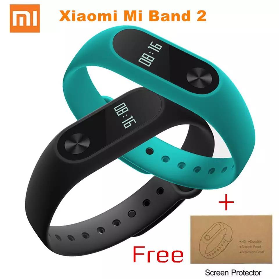 Vòng đeo tay thông minh xiaomi miband 2 tặng kèm miếng dán màn hình