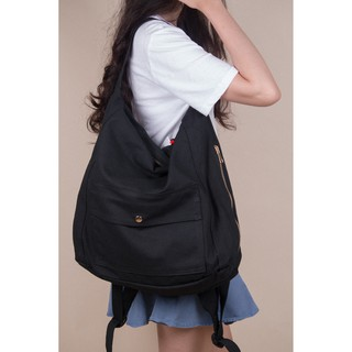 Casual Canvas Backpack Ver.2 - Màu Đen