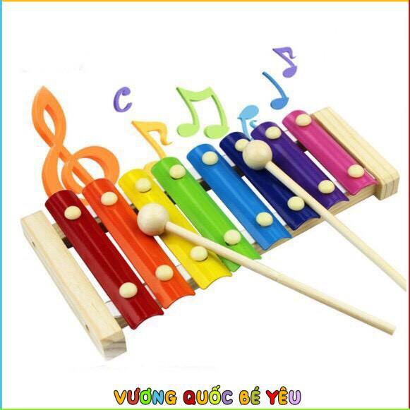 Đồ Chơi Gỗ Benrikids Đàn Khung Gỗ 8 Thanh Xylophone Cho Bé Làm Quen Với Âm Nhạc
