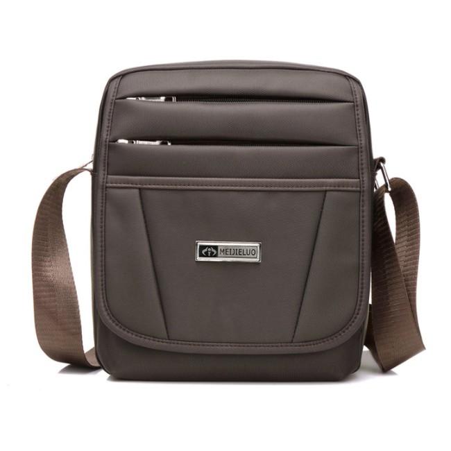 Combo 2 túi chống nước chất liệu vải dù 2 dây kéo đeo ngang hông, túi vuông