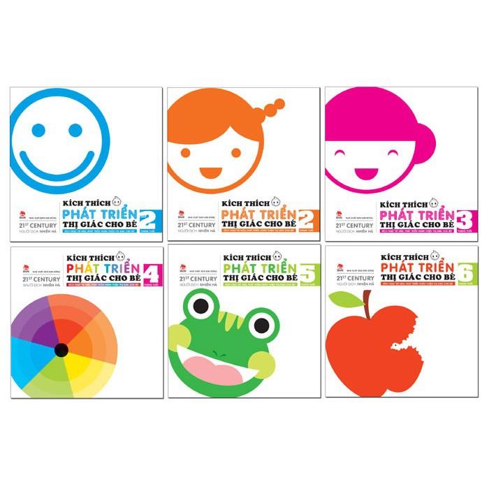 Sách - Kích thích thị giác cho trẻ từ 0-6 tuổi ( trọn bộ 6 cuốn)