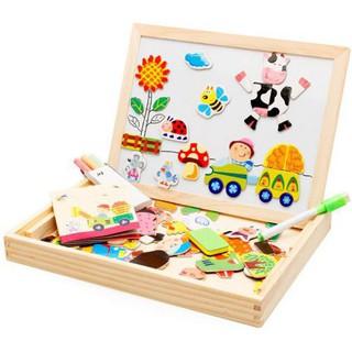 Đồ chơi tranh ghép nam châm đa năng cho bé Kagonk - Đồ chơi gỗ an toàn phát triển tư duy thumbnail