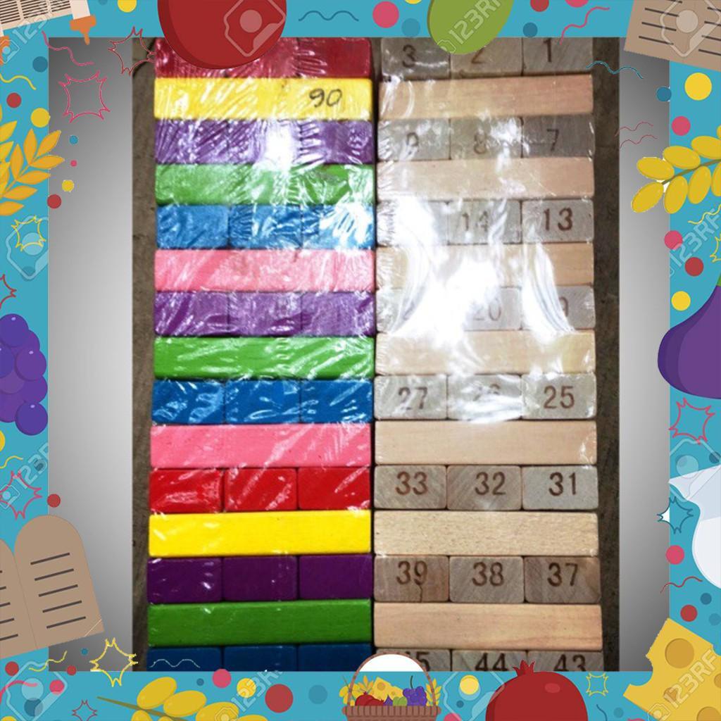 [Sale Giá Sốc] Đồ chơi xếp hình Rút gỗ ( cỡ to-2 loại)