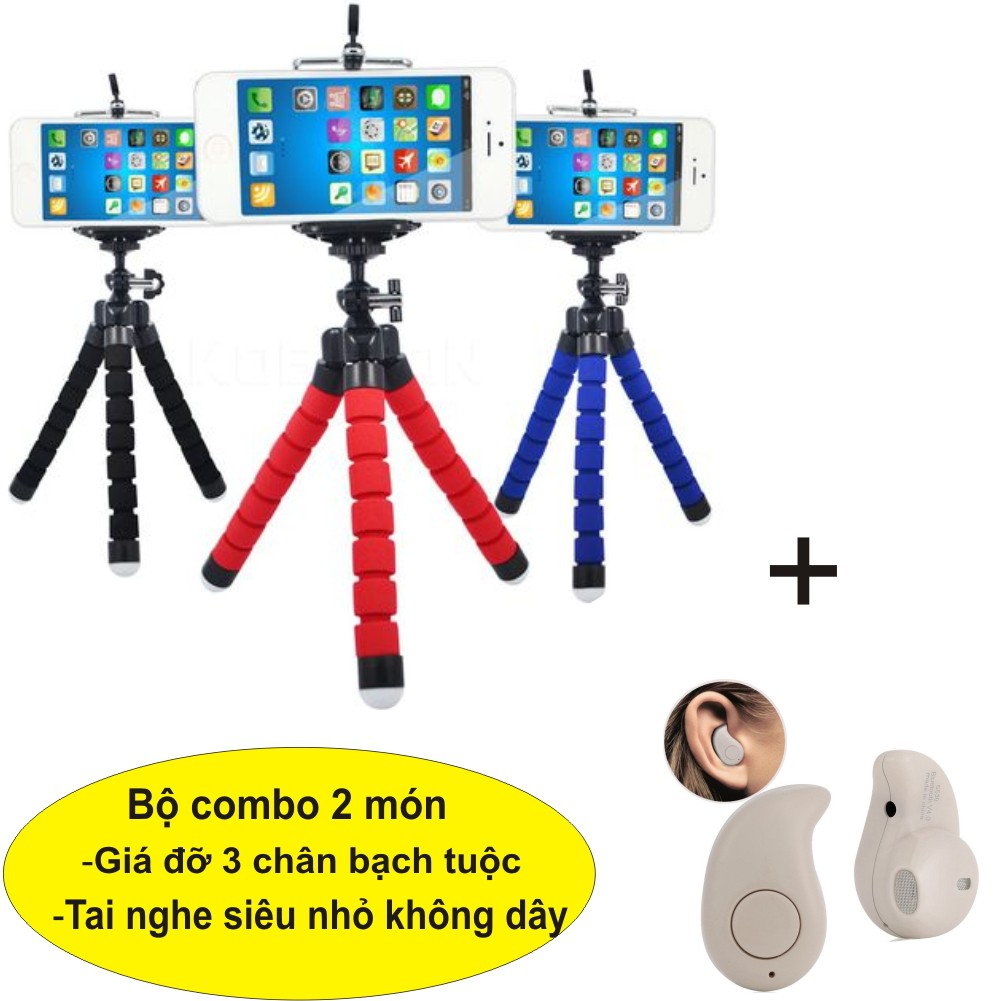 Combo Giá đỡ điện thoại 3 chân bạch tuộc đa năng + Tai nghe Bluetooth - 3477625 , 1199154904 , 322_1199154904 , 65000 , Combo-Gia-do-dien-thoai-3-chan-bach-tuoc-da-nang-Tai-nghe-Bluetooth-322_1199154904 , shopee.vn , Combo Giá đỡ điện thoại 3 chân bạch tuộc đa năng + Tai nghe Bluetooth