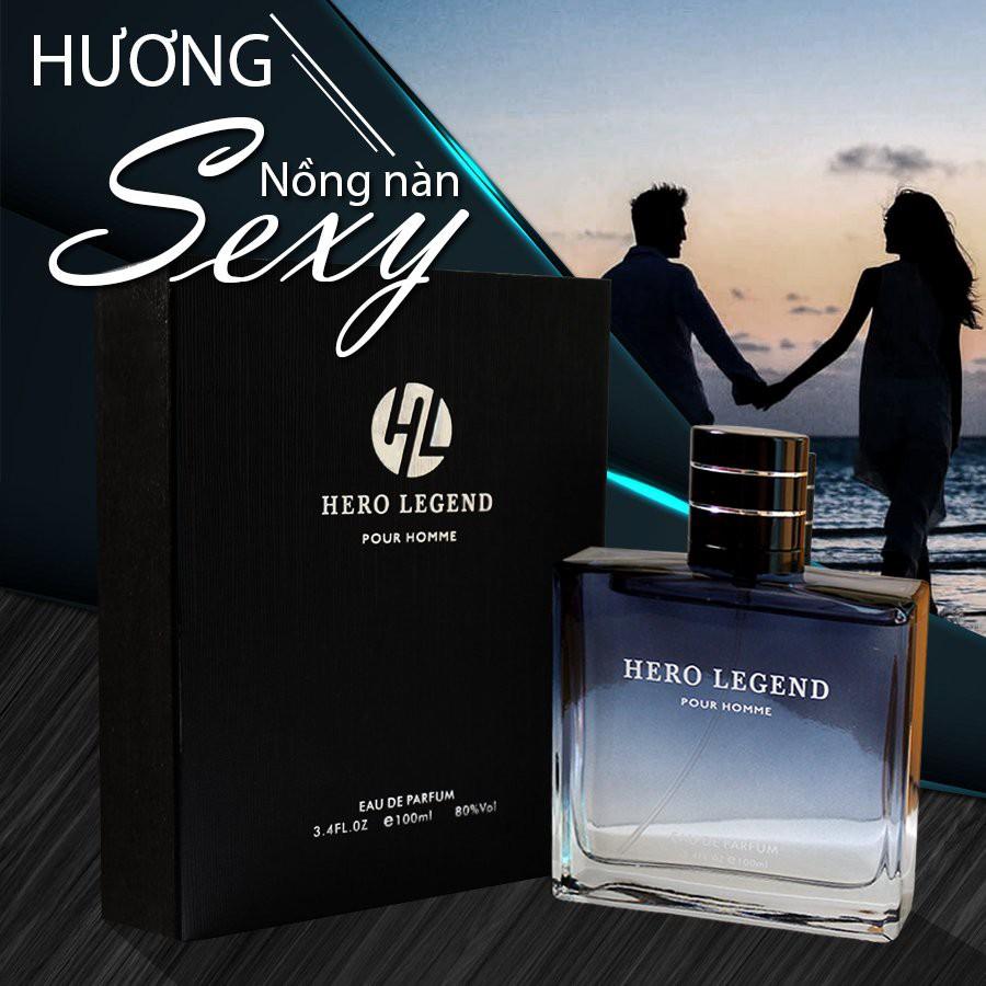 Nước hoa nam Hero Legend 3DO 100ml thơm lâu tới 5 giờ mùi hương nhẹ cá tính hàng nội địa trung cao cấp