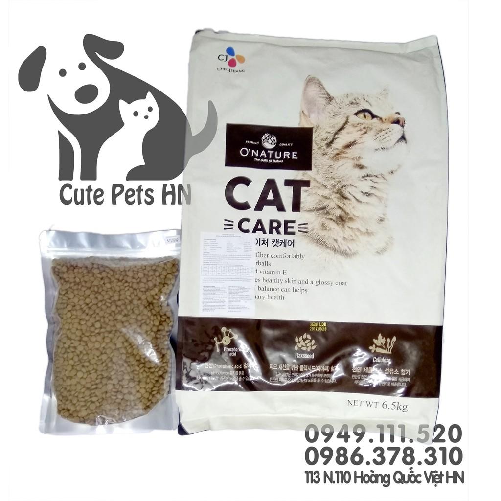 Thức cho cao cấp cho mèo Onature Cat Care (Share 1Kg) - CutePets