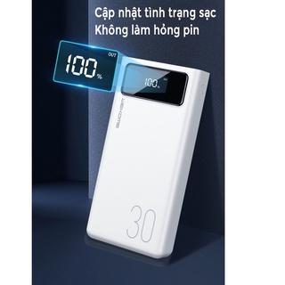 Pin sạc dự phòng 30000mah WK 175, đèn led hiển thị pin, 4 cổng USB đa năng, hàng chính hãng thumbnail