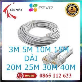 Dây Mạng LAN Lắp WIFI, Camera IP Internet 3M -10M - 15M - 35M bấm sẵn 2 đầu thumbnail