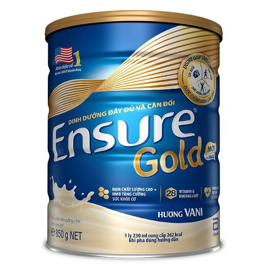 Sữa Bột Abbott Ensure Gold 850g mẫu mới