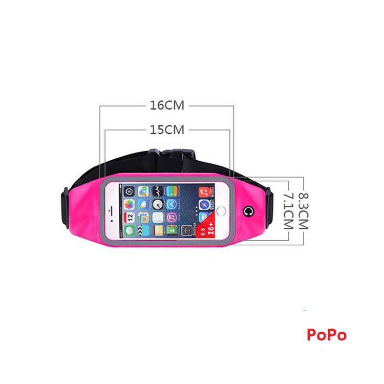 Đai đeo bụng chạy bộ tập thể dục, đai chạy bộ cho điện thoại 4.7 đến 5.5 Inch Iphone, Samsung (Đỏ)