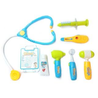 Bộ đồ chơi bác sĩ - Màu xanh có đèn báo Sp làm từ nhựa nguyên sinh An toàn