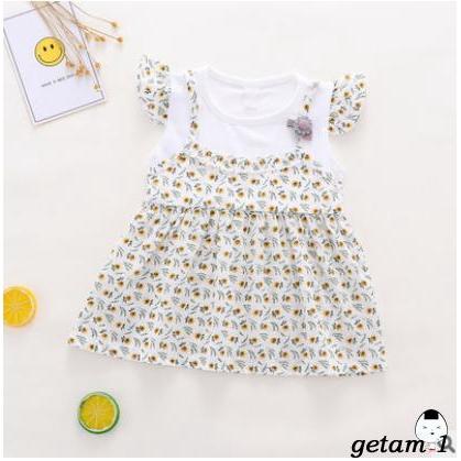♀Newborn Baby Girls Floral Dress Princess Party Summer Tutu Dresses
