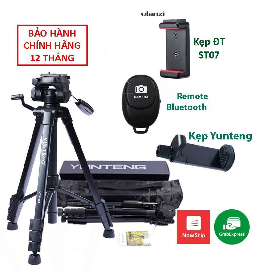 Chân Máy Ảnh Tripod YUNTENG VCT-668 cho DSLR, máy quay, điện thoại