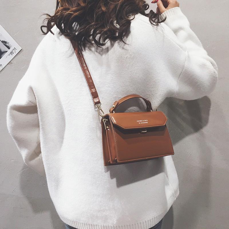Patent leather bag female 2018 new personality Korean versio
