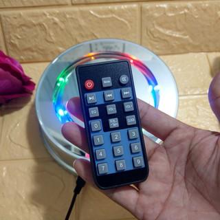 Đế xoay cường lực có nhạc MP3 remote điều khiển tích hợp pin sạc – CL001