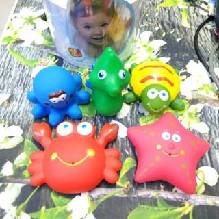 Combo 5 con đồ chơi nước sinh vật biển cho bé Bath Toys | sản phẩm quà tặng từ Morinaga Nhật bản