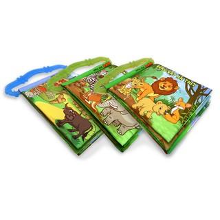 Bộ 3 sách vải kèm gặm nướu Động vật