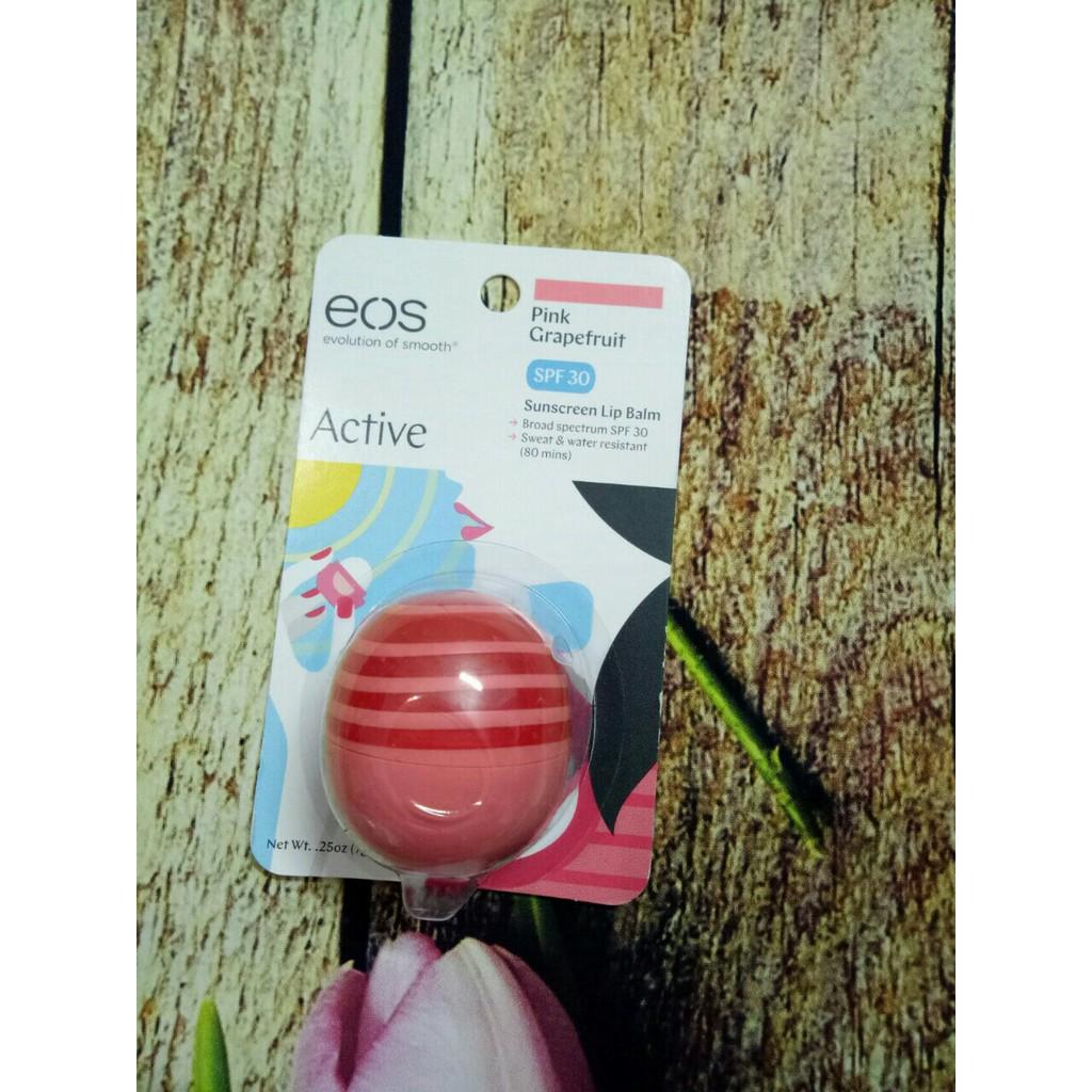 Son dưỡng môi hình quả trứng EOS - xách tay Mỹ - có bill mua hàng - hương trái cây ngọt ngào
