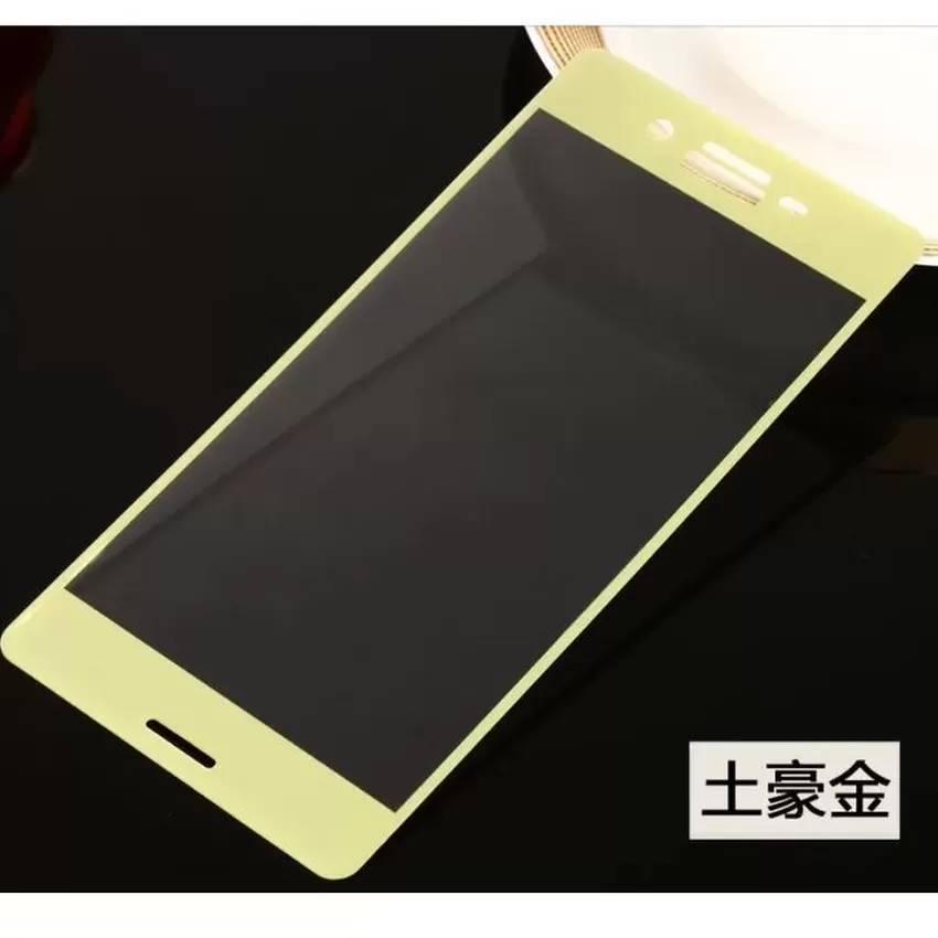 Miếng dán cường lực phủ kín màn Sony Xperia X (Vàng)