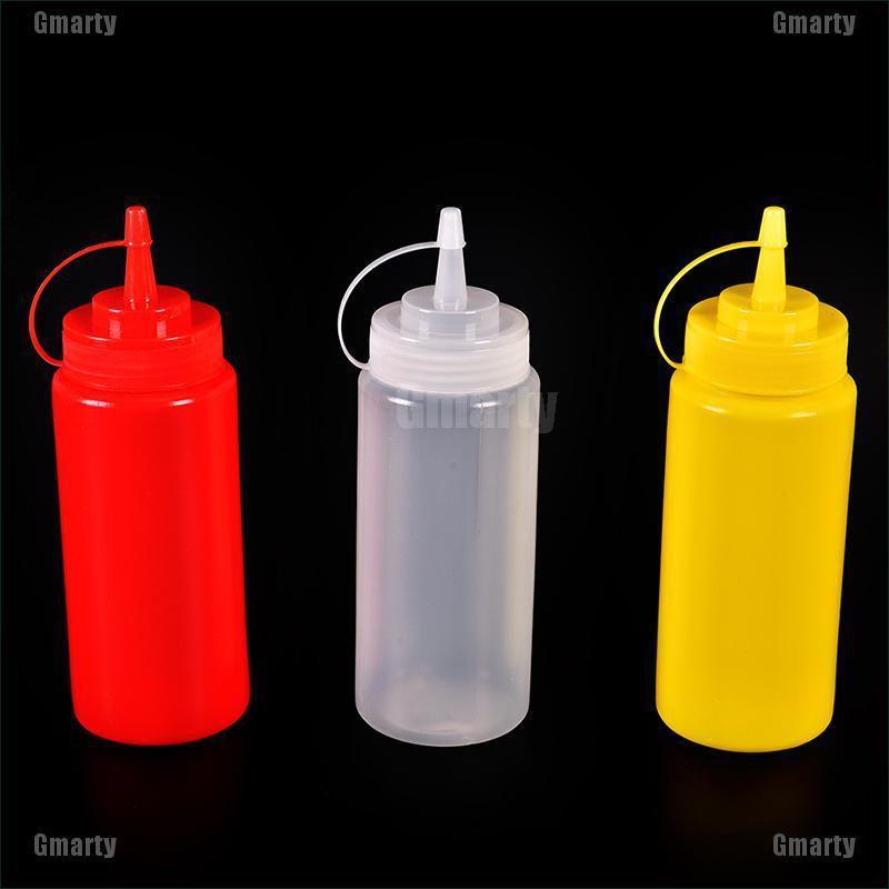 Gmarty Plastic Squeeze Bottle Condiment Dispenser Ketchup Mustard Sauce Vinegar