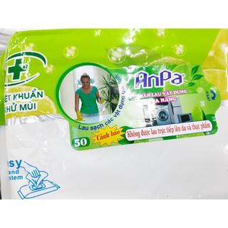 Combo 2 hộp khăn lau đa năng ANPA (50tờx2) kích thước 24x33cm