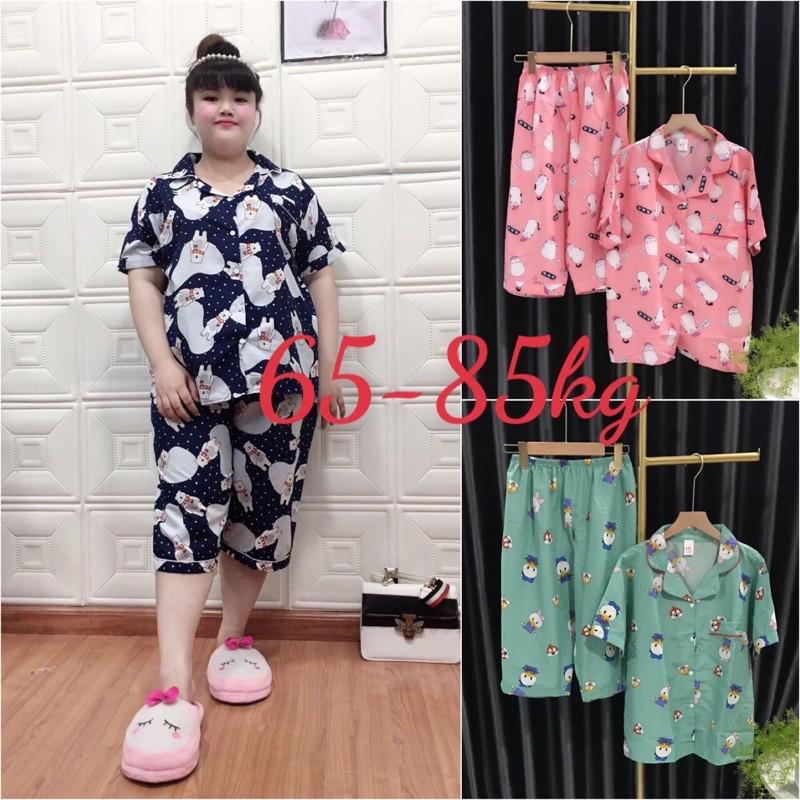 Mặc gì đẹp: Bộ pijama Tay ngắn quần lửng bigsize 65-85kg