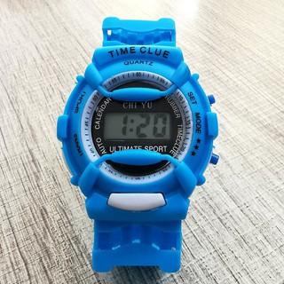 DH Đồng hồ điện tử trẻ em giới tính TIME CLUE dây cao su cực đẹp 8 A27