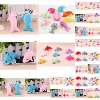 [MMHSI] Fashion 6CM Dolphin Stuffed Toy Doll Wedding Gift Bouquet Decor Plush Doll Toy 2pcs MMH