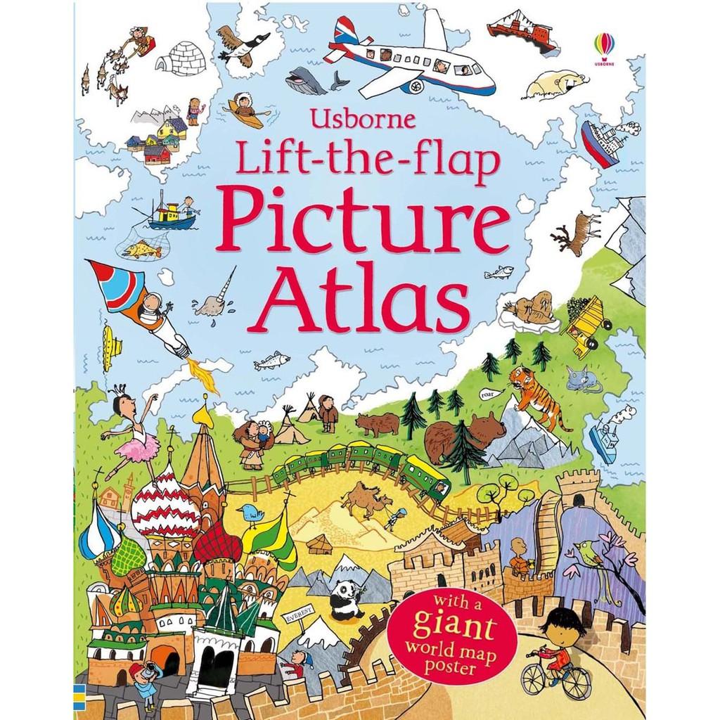 Sách tiếng anh lật mở giới thiệu thế giới Usborne Lift the Flap Picture