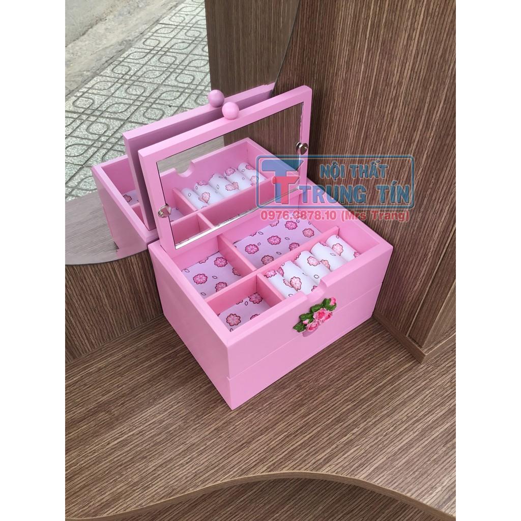Tủ nữ trang, có gương soi, màu hồng TT35