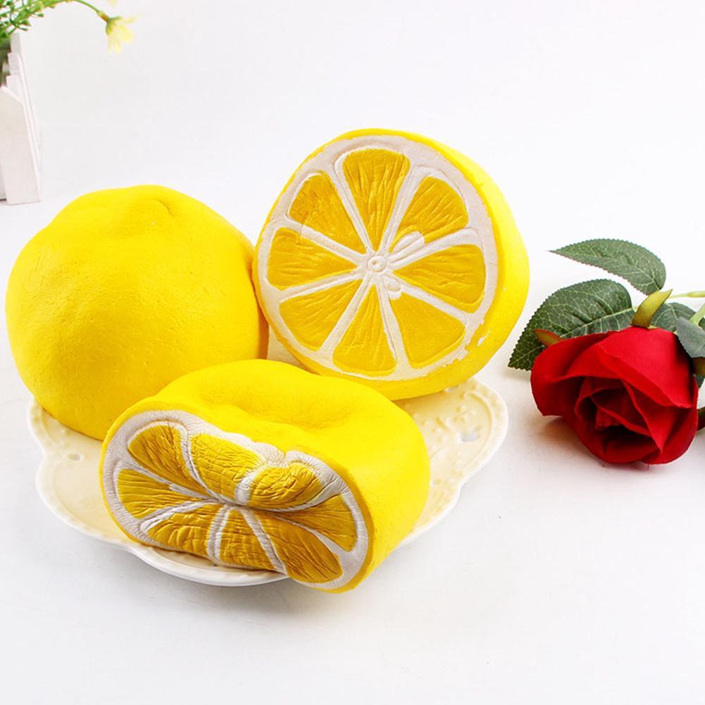 Squishy Half Lemon Fruit Scented Super Slow Rising Keyring Kid Funny Toy