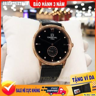 Đồng Hồ Nam Carnival 8708G  [ Chính Hãng Full Box ] Kính Sapphire Chống Xước , Chống Nước, Dây Da , Bảo Hành 36T