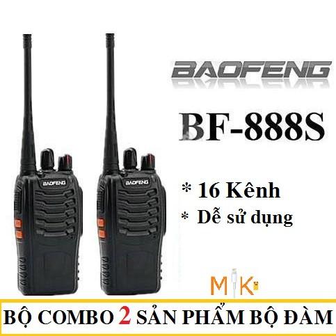 COMBO 2 BỘ ĐÀM CHÍNH HÃNG BAOFENG BF888s CỰC CHẤT