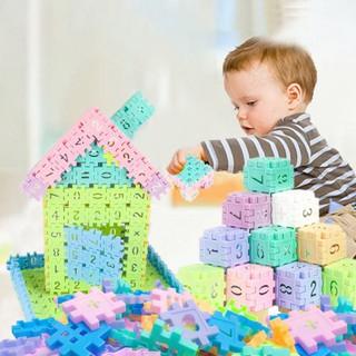 50pcs Digital Number Building Blocks Bricks Model For Kids Toy