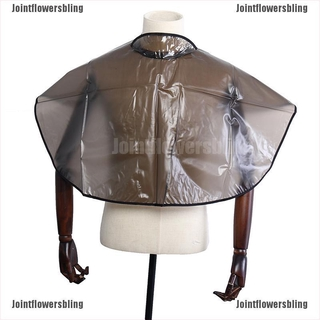 [Bling]Hair Cutting Collar PVC Waterproof Colouring Cape Barber Cloth Hairdressing Hair