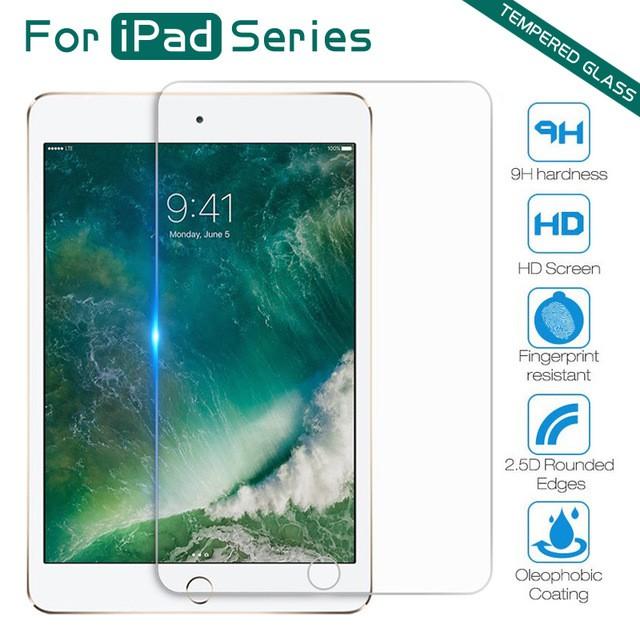 กระจกนิรภัย iPad mini 12345 iPad 234 iPad Air12 iPad Pro 9.7 iPad 2017 2018 iPad Pro 10.5 Pro 11 กระจกนิรภัย เต็มจอ