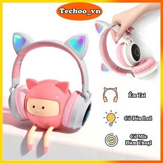 Tai nghe bluetooth BT-028C dễ thương có mic đàm thoại, tai nghe không dây headphone bluetooth chụp tai cao cấp thumbnail