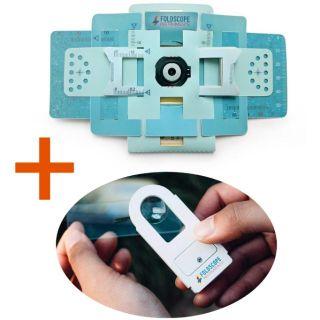 COMBO KÍNH HIỂN VI GIẤY FOLDSCOPE + ĐÈN LED HỖ TRỢ cực hiệu quả cho Kính hiển vi giấy foldscope