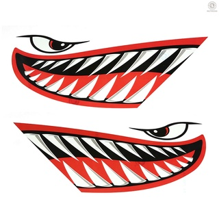[OG Surf]2 Pieces Waterproof Fish Teeth Mouth Stickers Kayak Boat Car Truck Accessories thumbnail